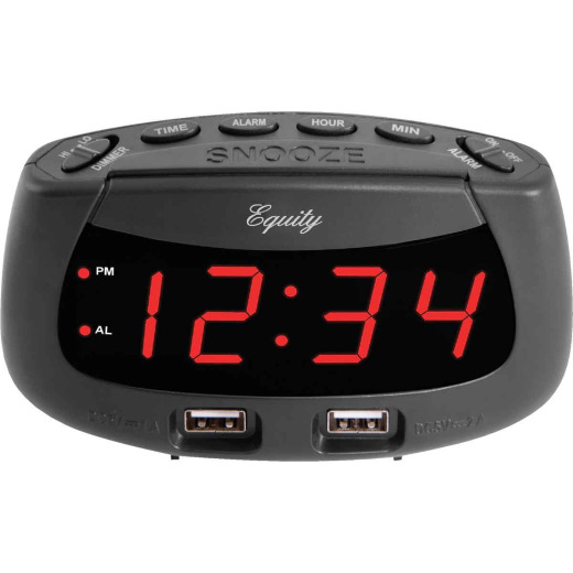La Crosse Technology Equity Dual USB Electric Alarm Clock
