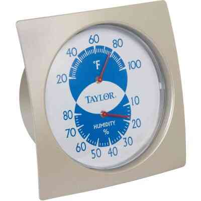 Taylor Fahrenheit Analog 20 to 100 F Hygrometer & Thermometer