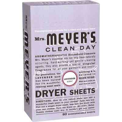 Mrs. Meyer's Clean Day Lavender Dryer Sheet (80 Count)