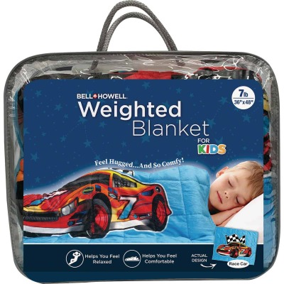 Bell+Howell Kids 7 Lb. Weighted Blanket- Cars