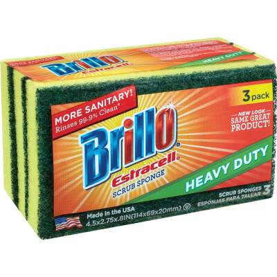 Brillo Estracell 4.5 In. x 2.75 In. Heavy Duty Sponge (2-Count)