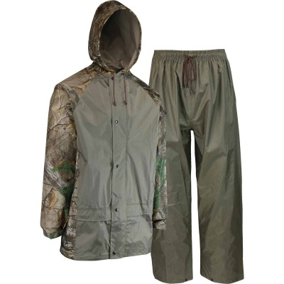 West Chester 2XL 2-Piece RealTree Camo Polyester Rain Suit
