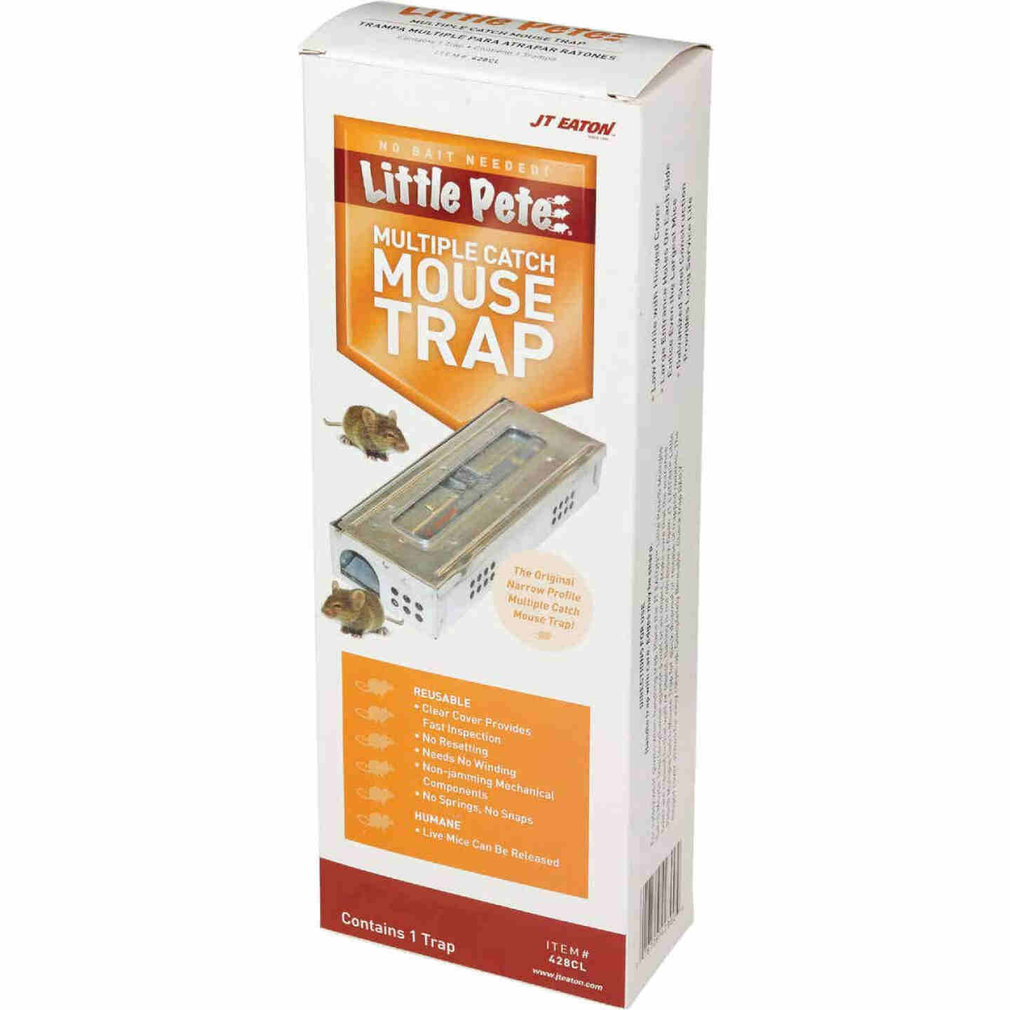 JT Eaton Little Pete Mechanical Mouse Trap with Clear Inspection Window (1-Pack) Image 3