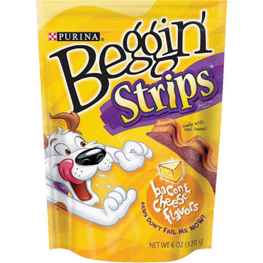 Purina Beggin' Strips Bacon & Cheese Flavor Chewy Dog Treat, 6 Oz.