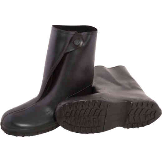 Tingley 10 In. Rubber Overshoe Boot, Men's Shoe Size 12.5 to 14