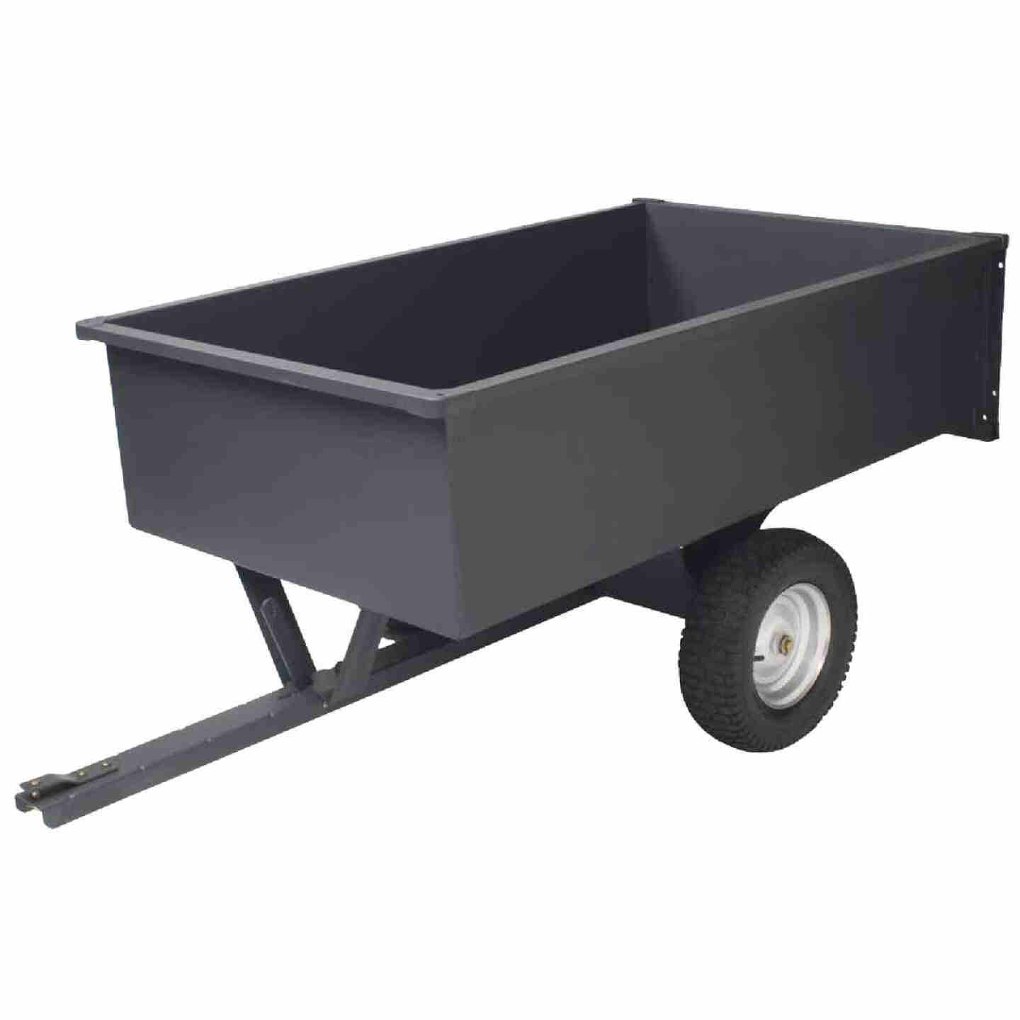 Precision 17 Cu. Ft. 1500 Lb. Steel Tow-Behind Garden Cart Image 1