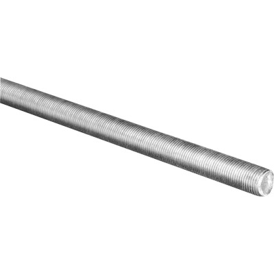 HILLMAN Steelworks 1/4 In. x 3 Ft. Steel Fine Threaded Rod