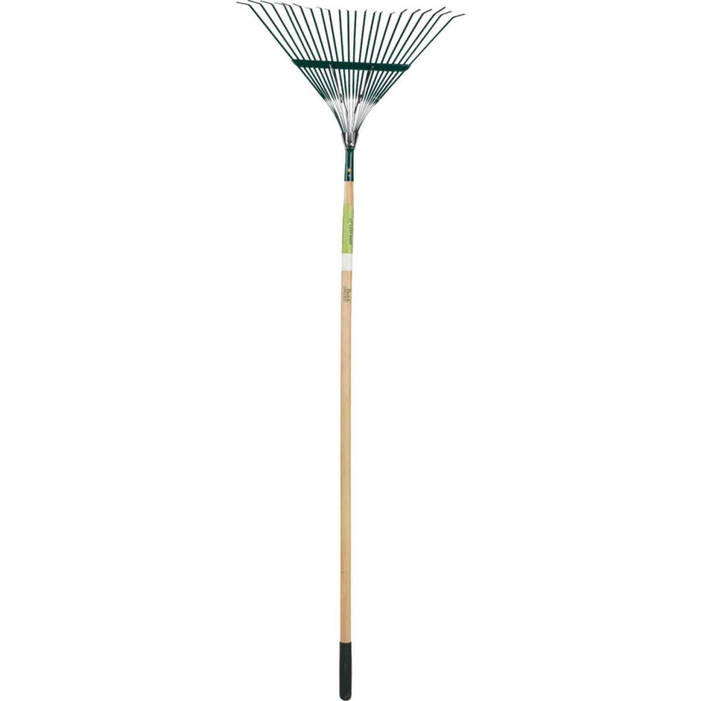 Best Garden 22 In. Steel Leaf Rake (22-Tine) Image 3