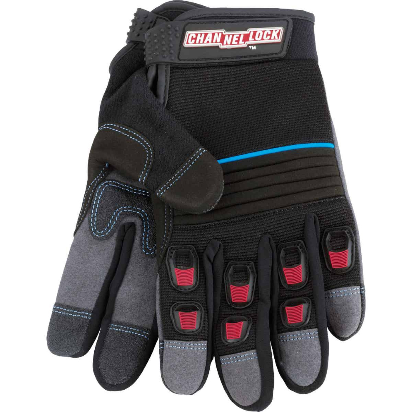 Channellock Men's Medium Synthetic Leather Heavy-Duty High Performance Glove Image 3