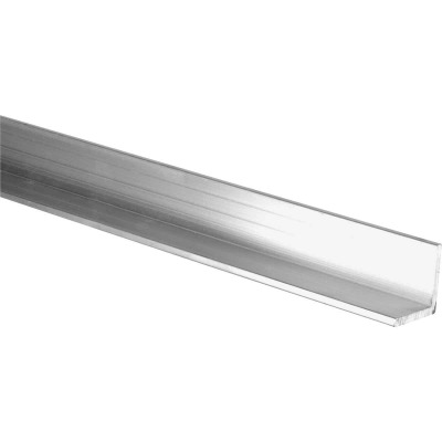 HILLMAN Steelworks Mill 1 In. x 8 Ft., 1/8 In. Aluminum Solid Angle