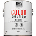 Do it Best Color Solutions Latex Self-Priming Flat Ceiling Paint, White, 1 Gal. Image 2