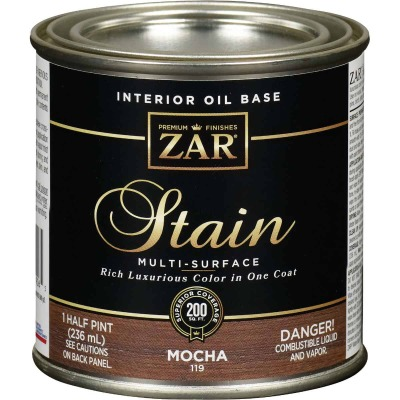 ZAR Oil-Based Wood Stain, Mocha, 1/2 Pt.