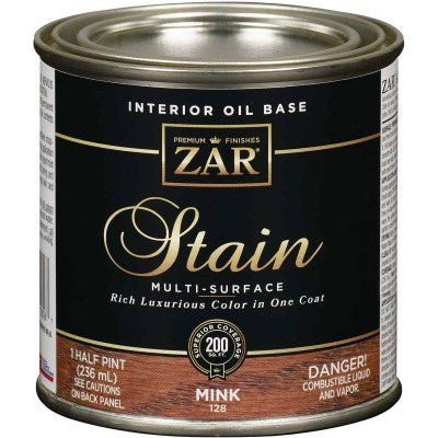 ZAR Oil-Based Wood Stain, Mink, 1/2 Pt.