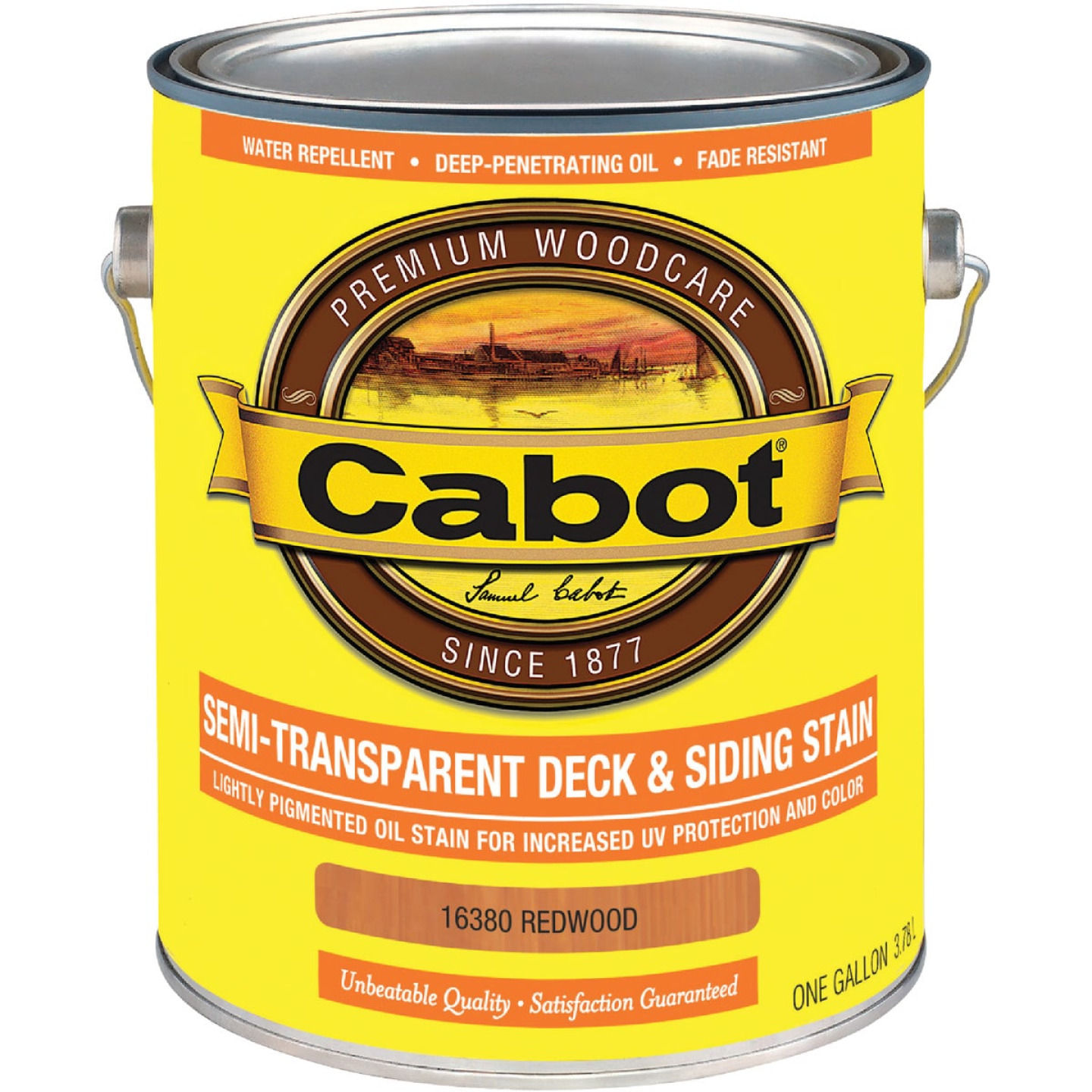 Cabot VOC Semi-Transparent Deck & Siding Exterior Stain, Redwood, 1 Gal. Image 1