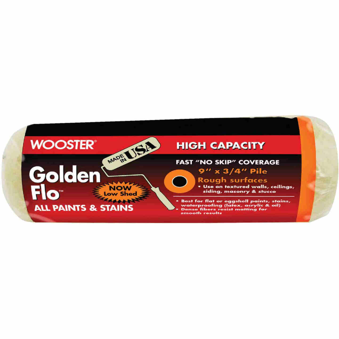 Wooster Golden Flo 9 In. x 3/4 In. Knit Fabric Roller Cover Image 1