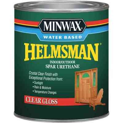 Minwax Helmsman Quart Gloss Water-Based Spar Interior/Exterior Varnish