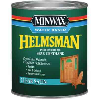 Minwax Helmsman Quart Satin Water-Based Spar Interior/Exterior Varnish