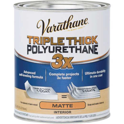 Varathane Matte Triple Thick Interior Polyurethane, 1 Qt.