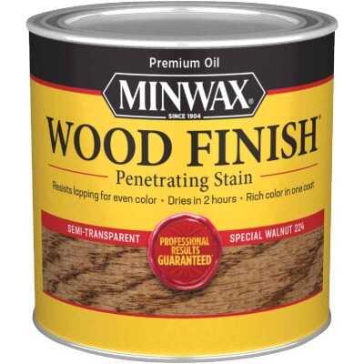 Minwax Wood Finish Penetrating Stain, Special Walnut, 1/2 Pt.