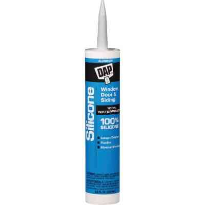 DAP 9.8 Oz. Window, Door & Siding Silicone Sealant, Aluminum