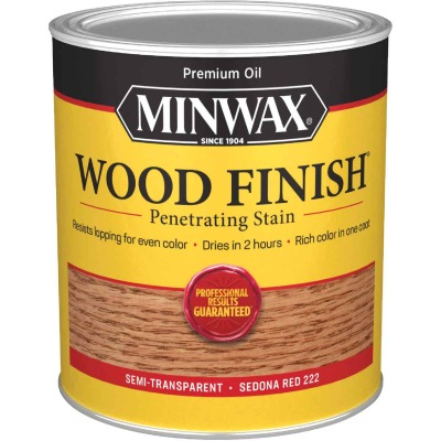 Minwax Wood Finish Penetrating Stain, Sedona Red, 1 Qt.