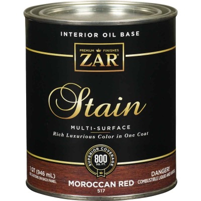 Zar 1 Qt. Moroccan Red Oil-Based Multi-Surface Interior Stain