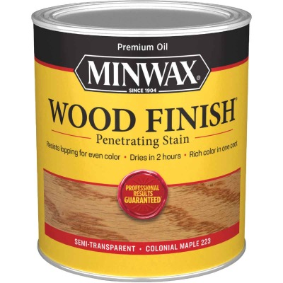 Minwax Wood Finish Penetrating Stain, Colonial Maple, 1 Qt.