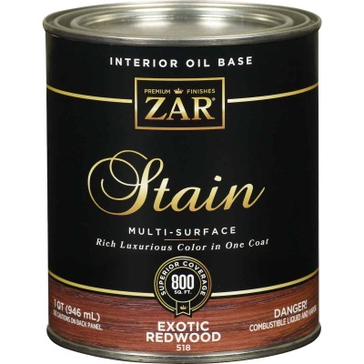 Zar 1 Qt. Exotic Redwood Oil-Based Multi-Surface Interior Stain