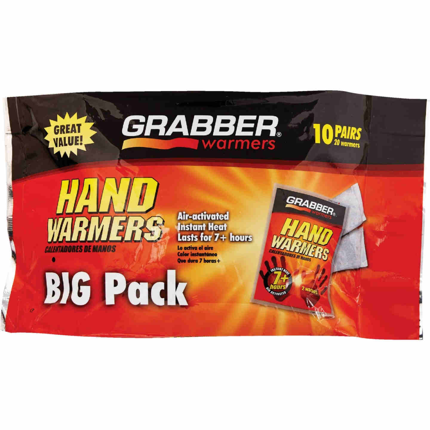 Grabber Disposable Hand Warmer (10-Pack) Image 2