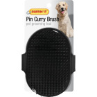 Westminster Pet Ruffin' it Plastic Palm Grooming Pet Brush Image 1