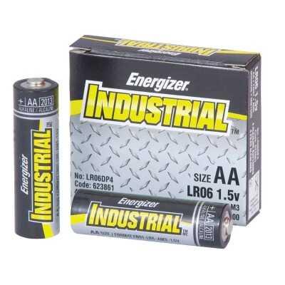 Energizer Industrial AA Alkaline Battery (4-Pack)