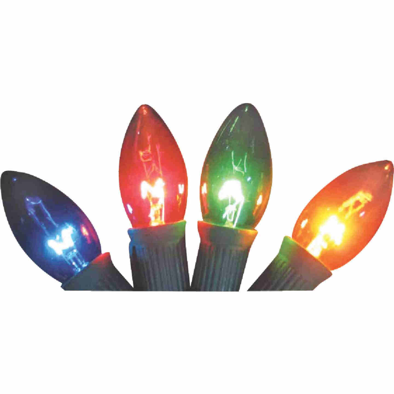 J Hofert C9 Multi Transparent 125V Replacement Light Bulb (4-Pack) Image 1