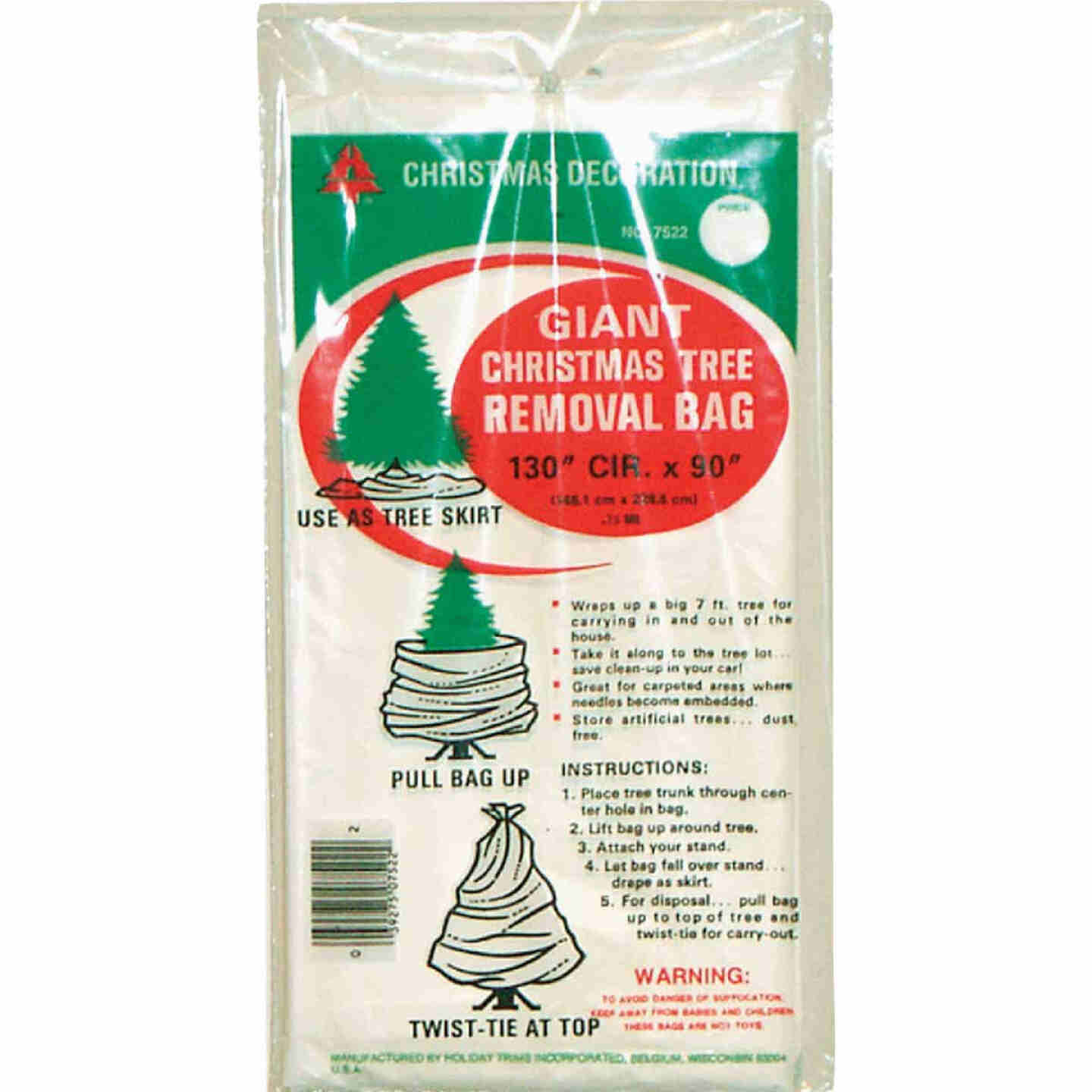Holiday Trims 90 In. L. x 144 In. Dia. Christmas Tree Removal Bag Image 1